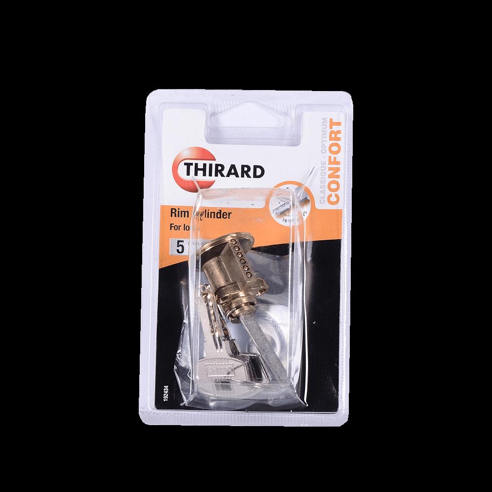 Cilindru pentru broasca aplicata, Thirard RIM, alama, 4 chei reversibile
