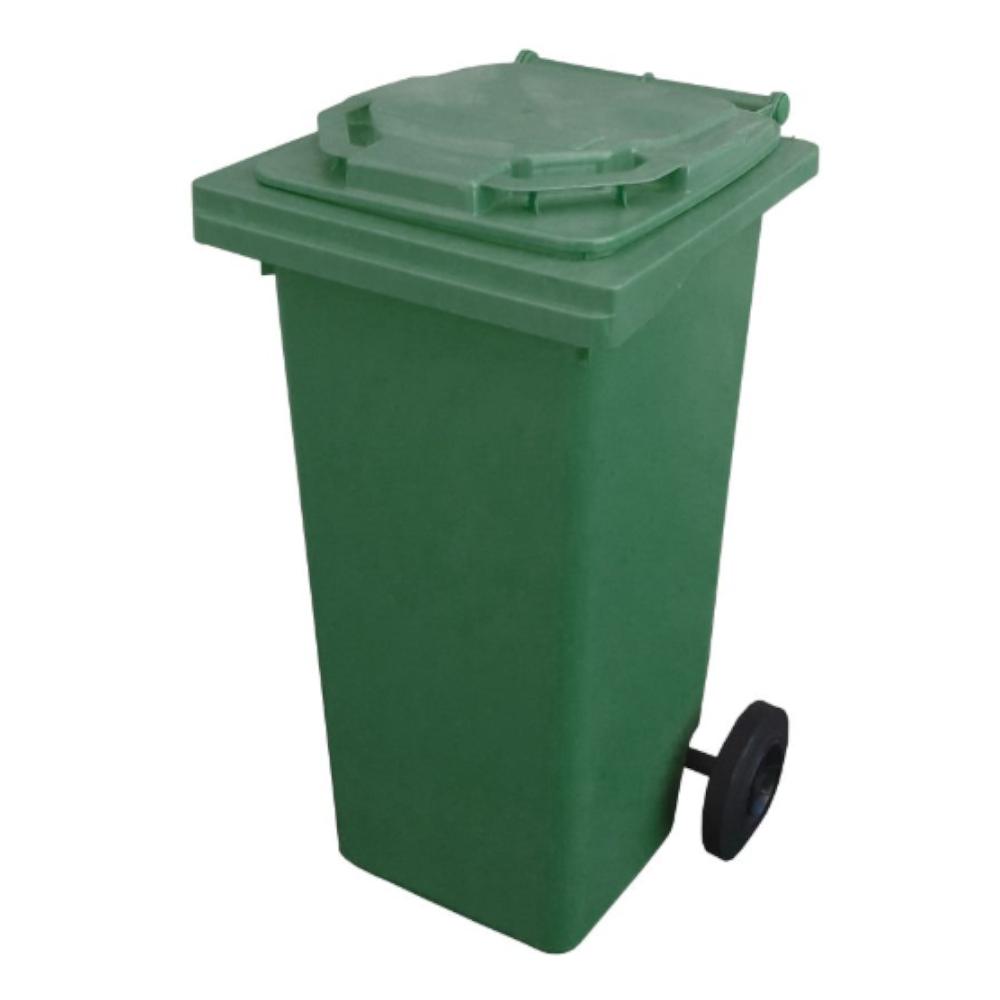 Pubela cu rotile Napochim, verde, 120 l imagine 2021 mathaus