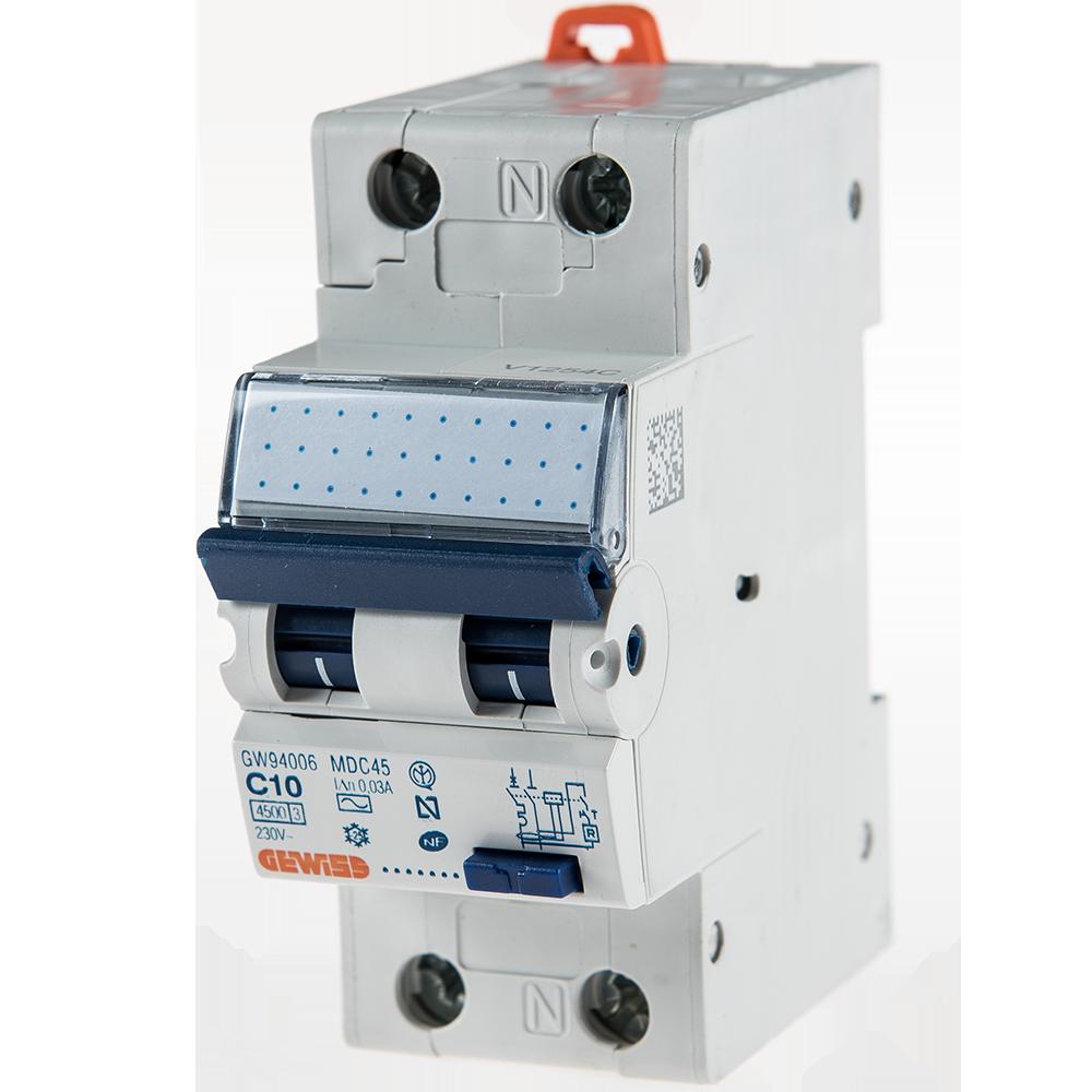 Intrerupator automat diferential GW94006 1P+N 10A 30mA Gewiss