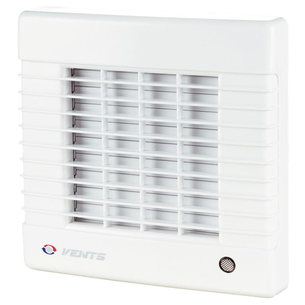 Ventilator de baie Vents, jaluzele automate, timer, D 150 mm, 26 W, 2400 rpm, 295 mc/h, alb