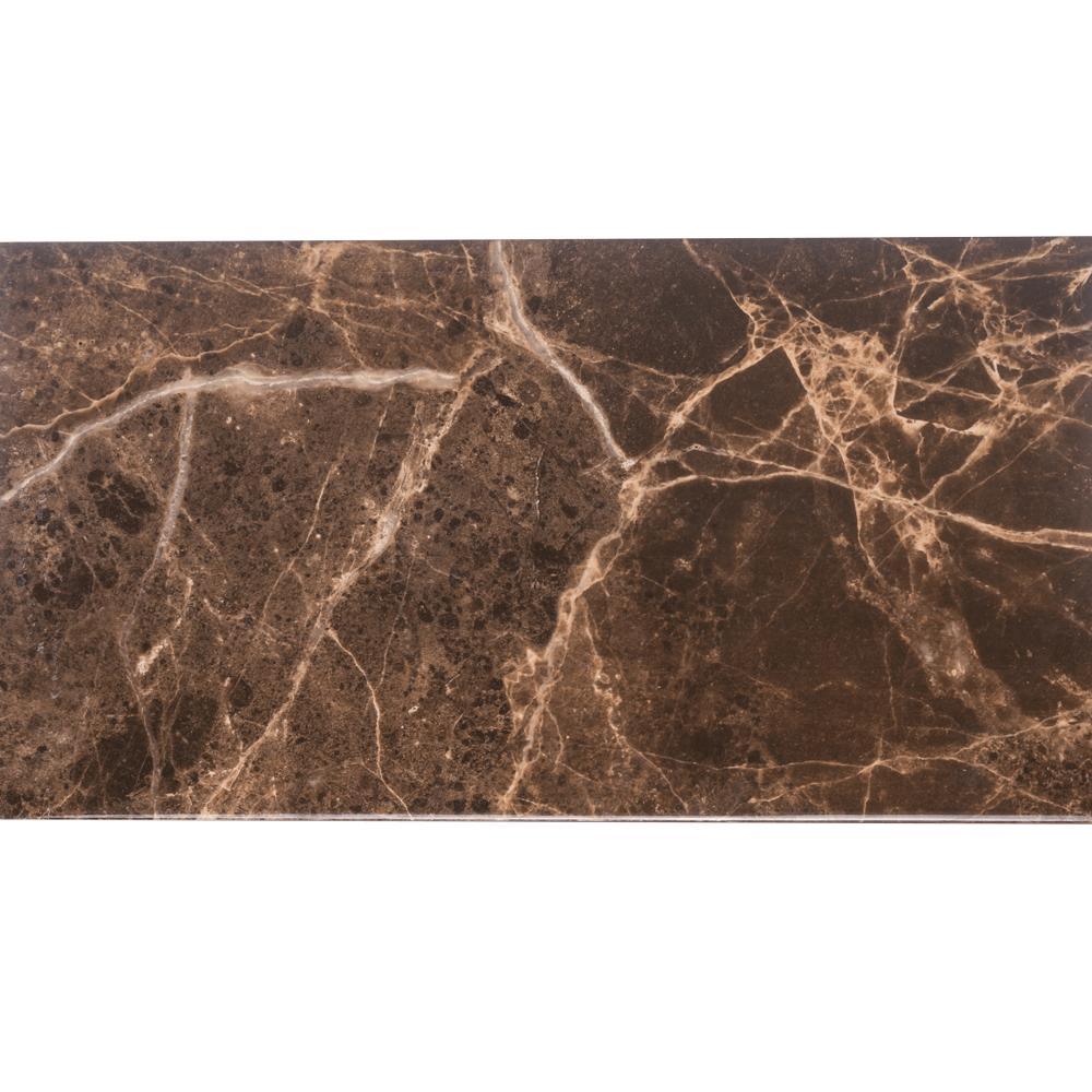 Faianta Dual Gres Elda Marron, maro inchis, aspect marmura, lucioasa, 31.6 x 60 x cm imagine 2021 mathaus
