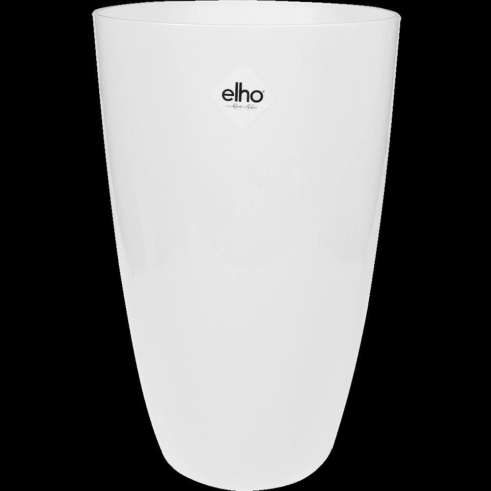 Masca ghiveci inalta Elho Brussels Diamond, plastic, alb, 19 l, diametru 27 cm, 44 cm