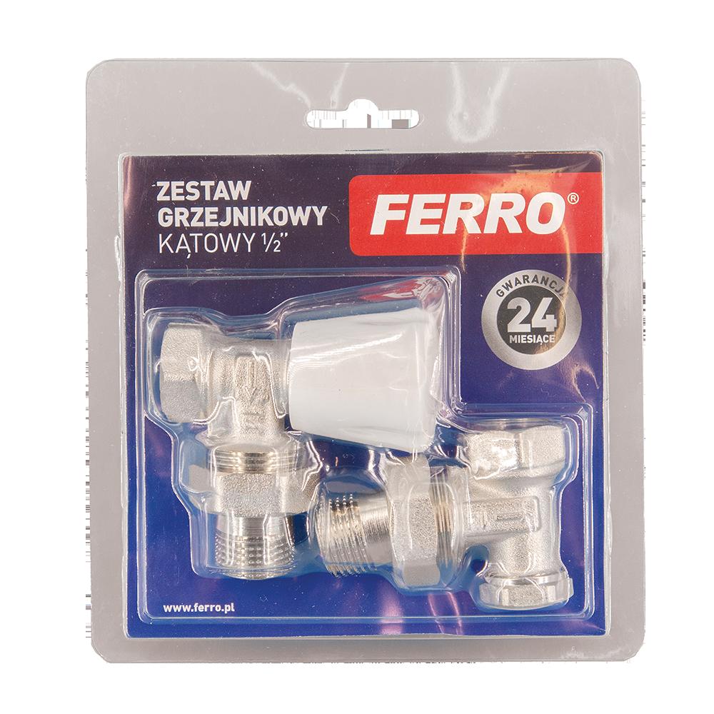 Set robinet radiator coltar Ferro ZGB02, 1/2 inch x 1/2 inch