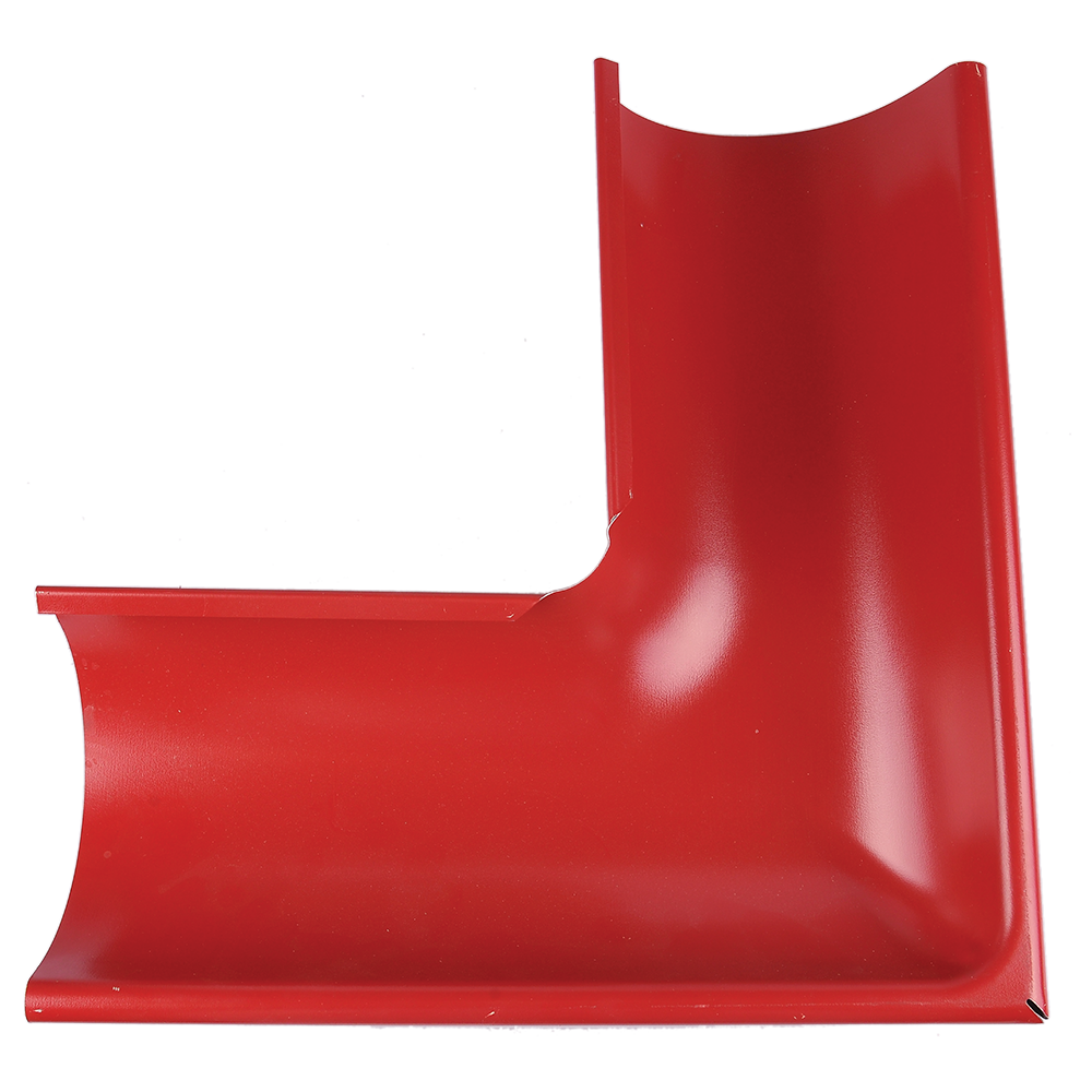 Coltar exterior jgheab, metalic, 125 mm, rosu RAL 3011