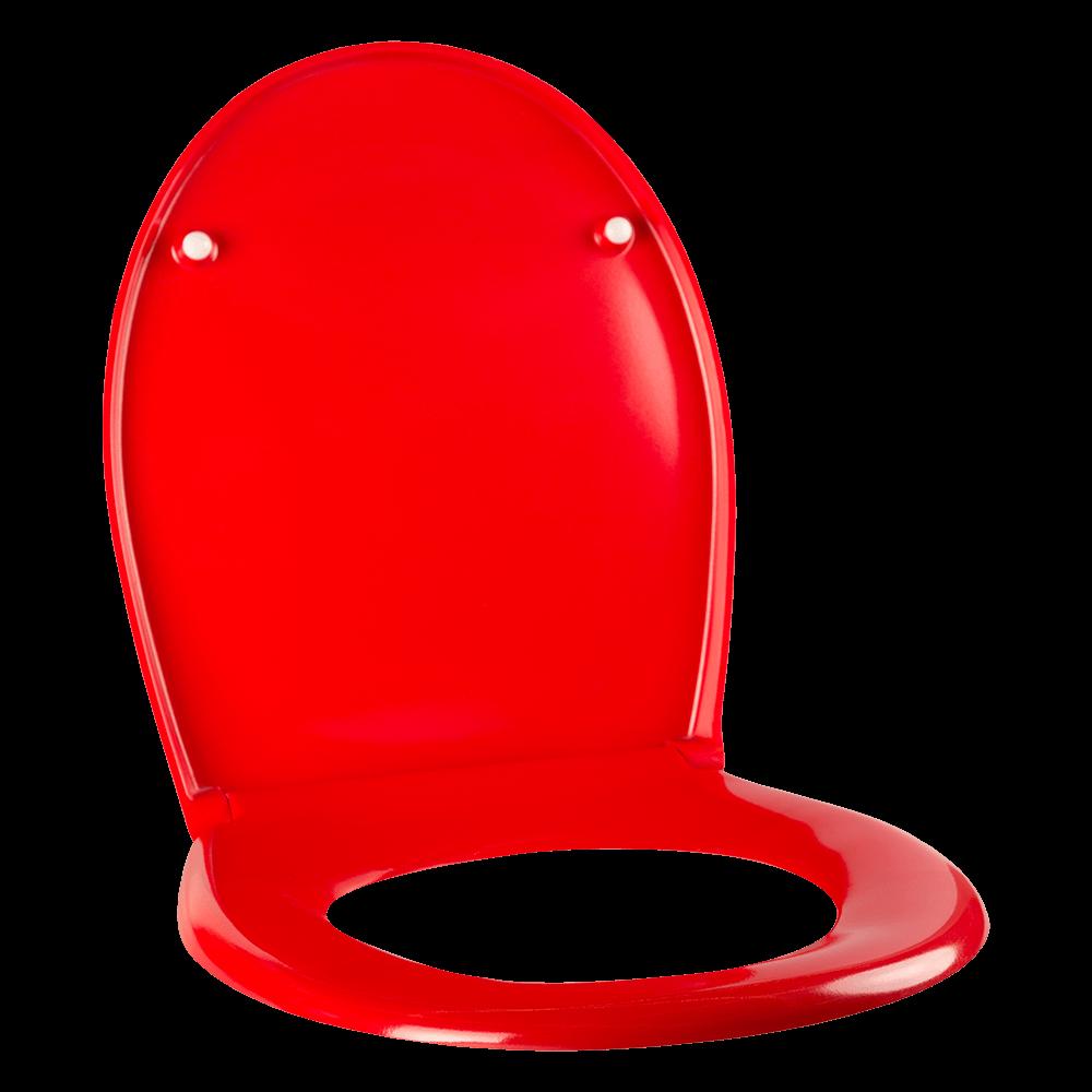 Capac pentru WC Romtatay Duroplast, rosu, 431 x 365 mm