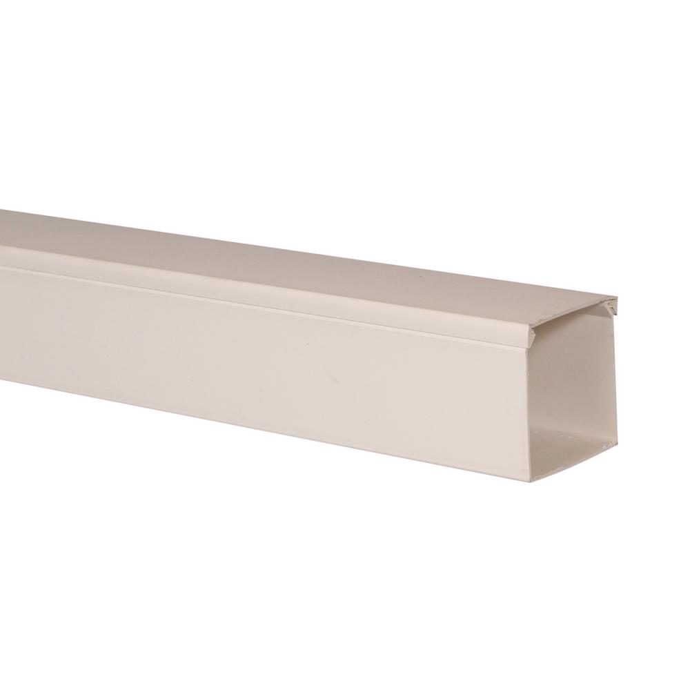 Canal cablu 60 x 60 mm, 2 m, alb, PVC ignifugat