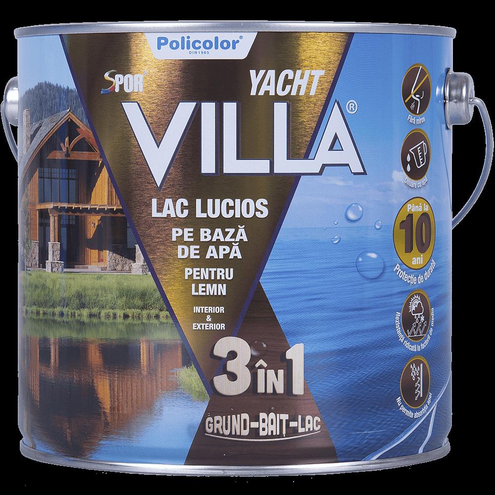 Lac Spor Villa Yacht lucios 3 in 1 wenge 2,5 L