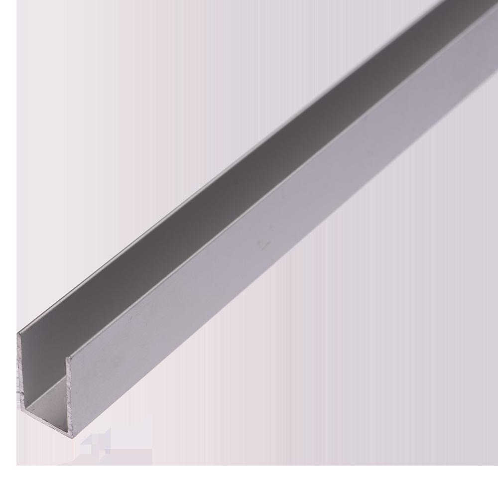 Profil tip U, aluminiu, 12,5 x 20 x 1 mm, L 1 m imagine 2021 mathaus