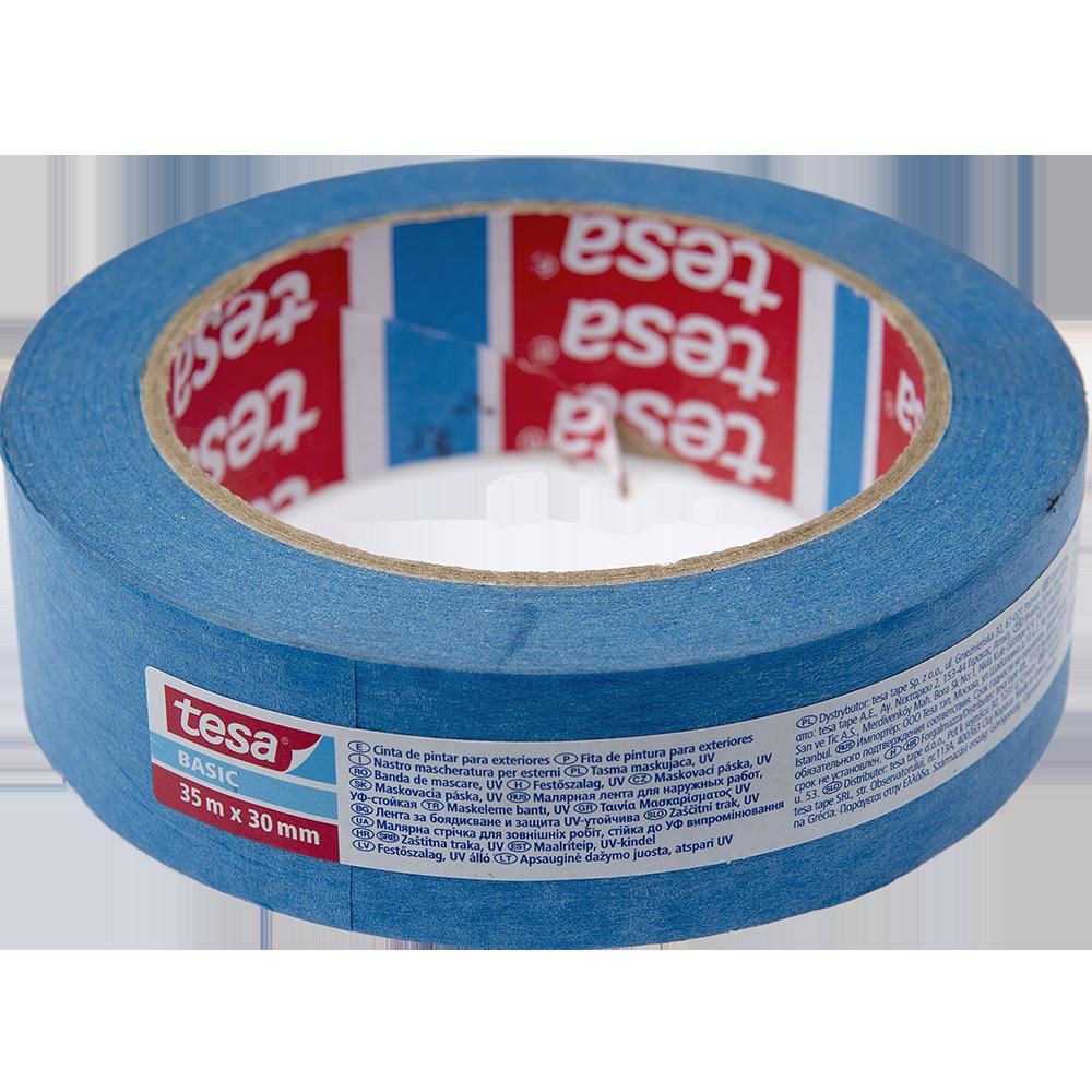 Banda mascare Tesa Basic UV, bleu, 30 mm, 35 m imagine 2021 mathaus
