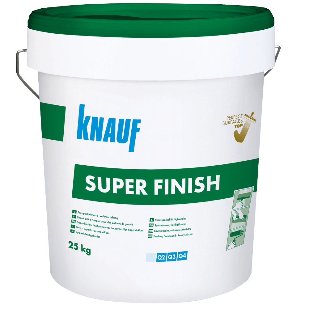 Glet universal gata preparat Knauf Super Finish, 0,9 kg/mp/strat, 25 kg