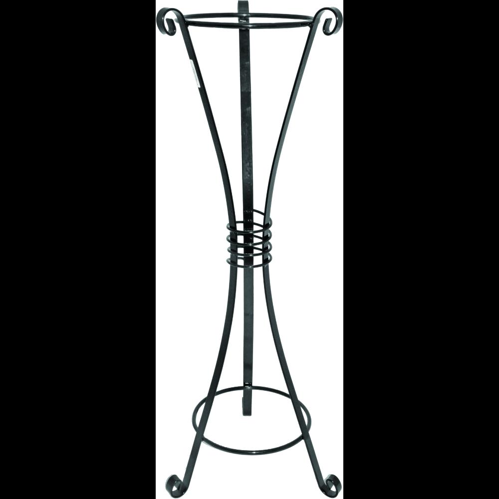 Suport tip amfora, inaltime 80 cm, fier forjat, negru