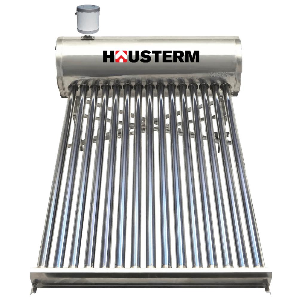 Panou solar nepresurizat Hausterm, boiler inox, 122L 15 T + flotor