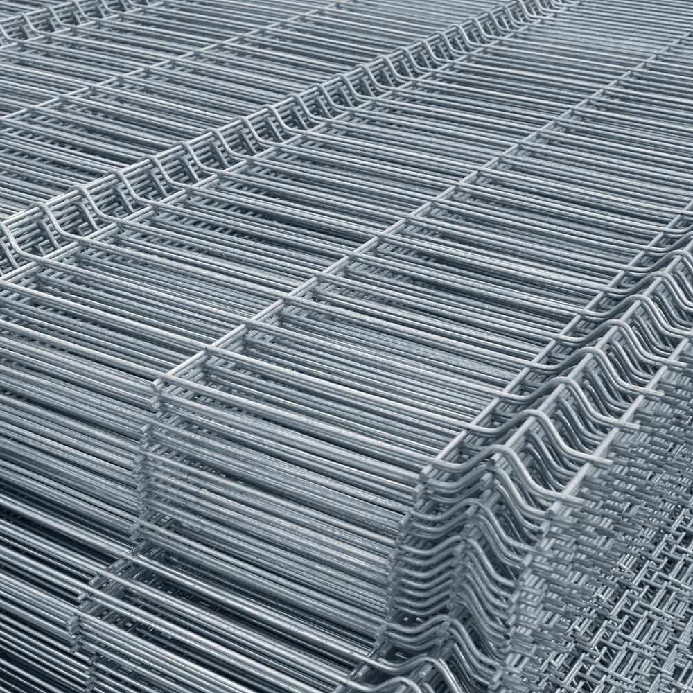 Panou gard bordurat zincat 1700 x 2500 mm imagine MatHaus.ro