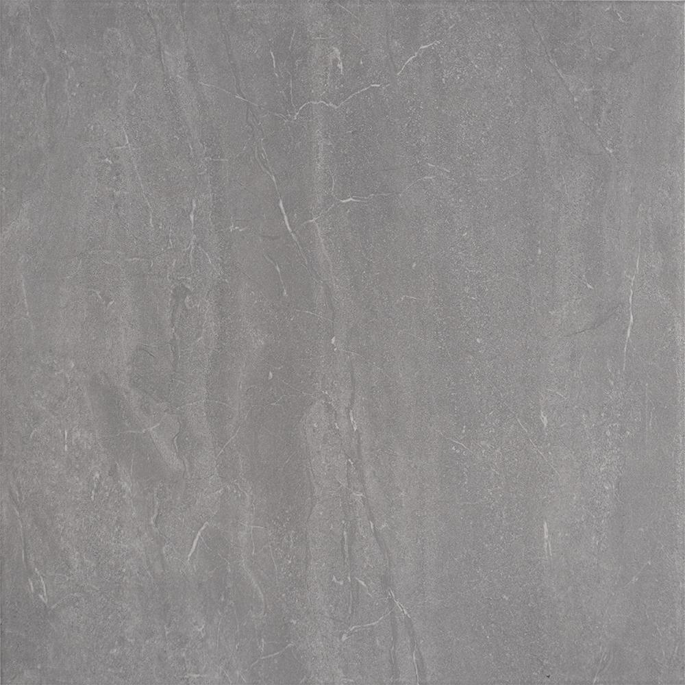 Gresie portelanata interior/exterior Kai Ceramics Galego, gri, aspect de marmura, finisaj mat, 45 x 45 cm