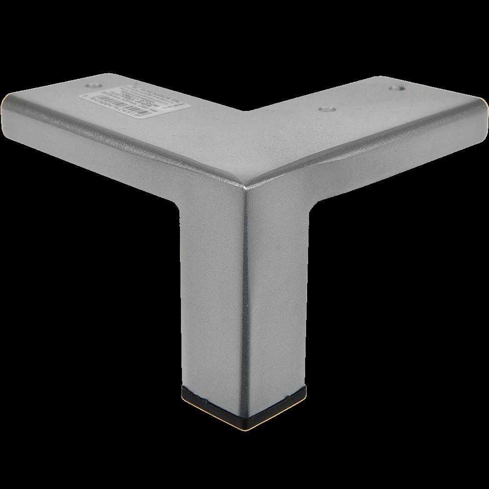 Picior pentru canapea, metal cromat mat,  25 x 25 mm, H: 70 mm imagine MatHaus.ro