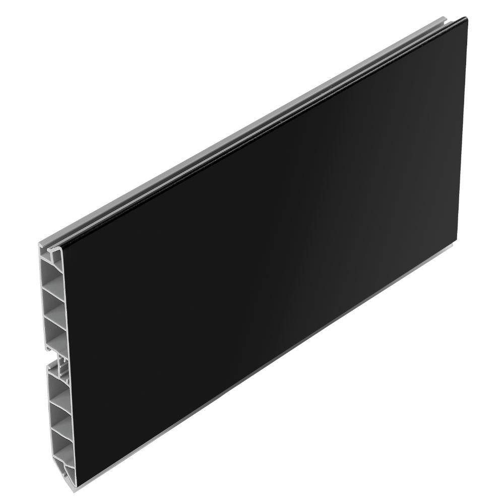 Plinta PVC, 100 mm x 4 m, negru