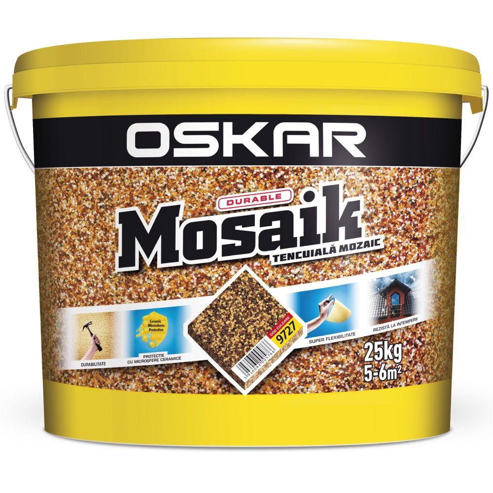 Tencuiala decorativa Oskar Mosaik 9727, interior/exterior, 25 kg