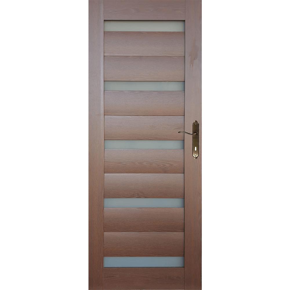 Usa interior cu geam  M101, stejar auriu, 200 x 70 cm + toc 10 cm imagine MatHaus.ro