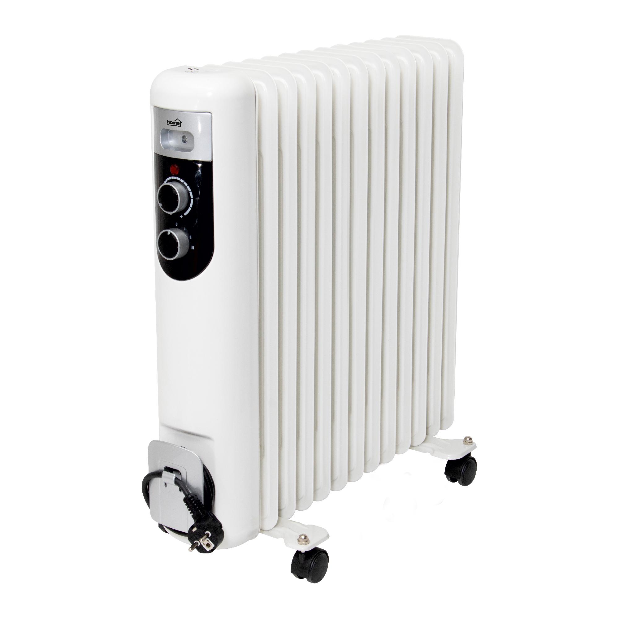 Calorifer electric cu ulei Home by somogyi FKOS 13M, 2 panouri convectoare, 2500W, aluminiu, alb, 60 x 58 cm imagine 2021 mathaus