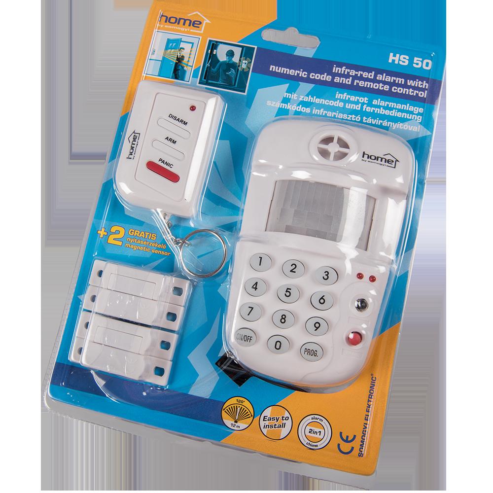 Alarma Home HS 50 pe infrarosu, cu cod numeric si telecomanda, raza de actiune 12 m mathaus 2021