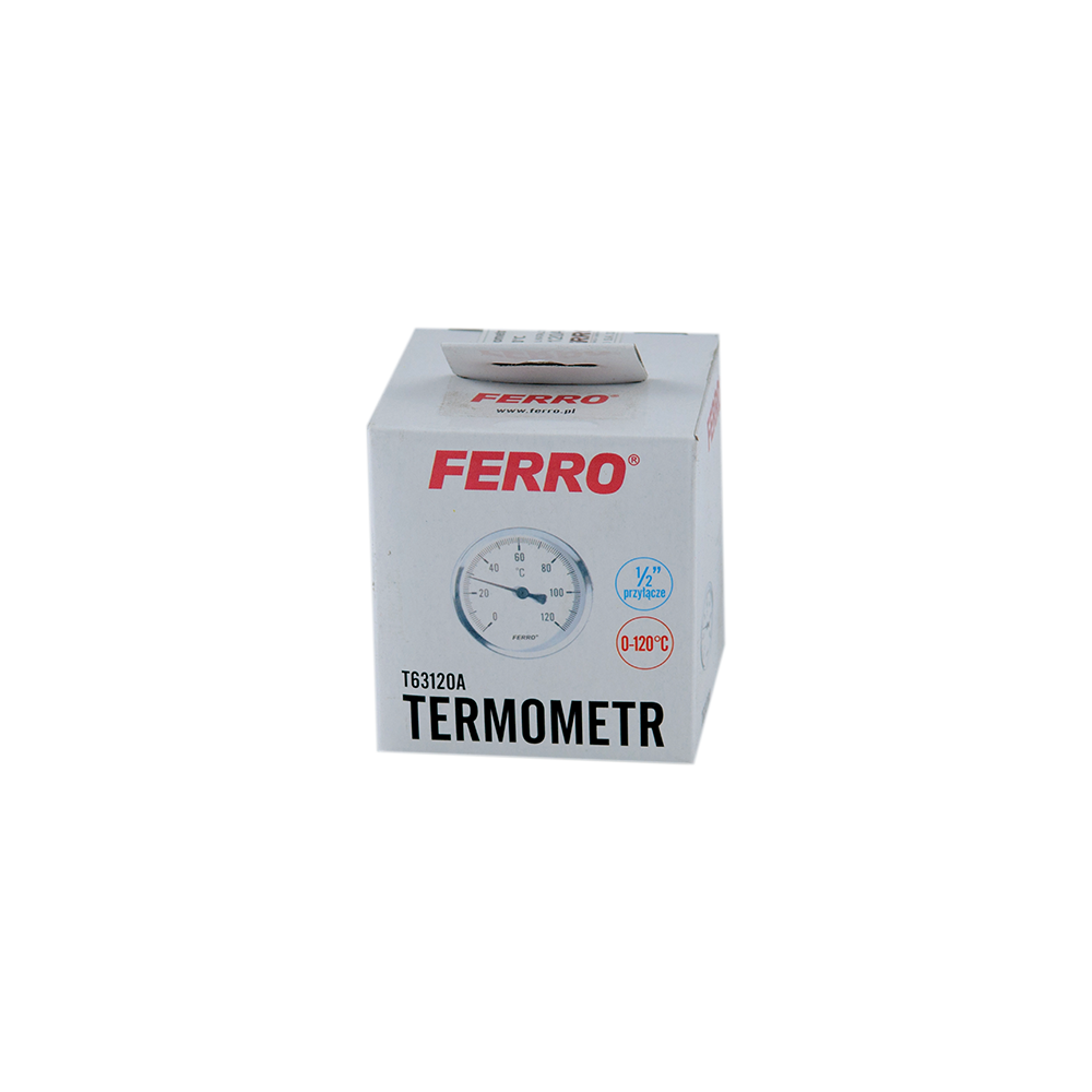 Termometru axial Ferro, 63 mm x 1/2 inch imagine 2021 mathaus