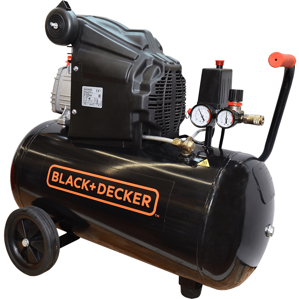 Compresor de aer Black&Decker BD 205/50, 2000 W, 2850 rpm, 8 bar, 50 l imagine 2021 mathaus