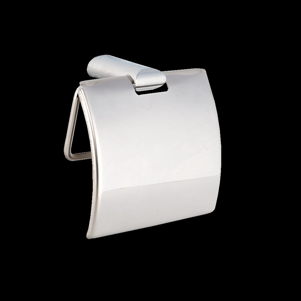 Suport hartie igienica Ronda, metal, argintiu, 12,8 x 5 x 10,5 cm