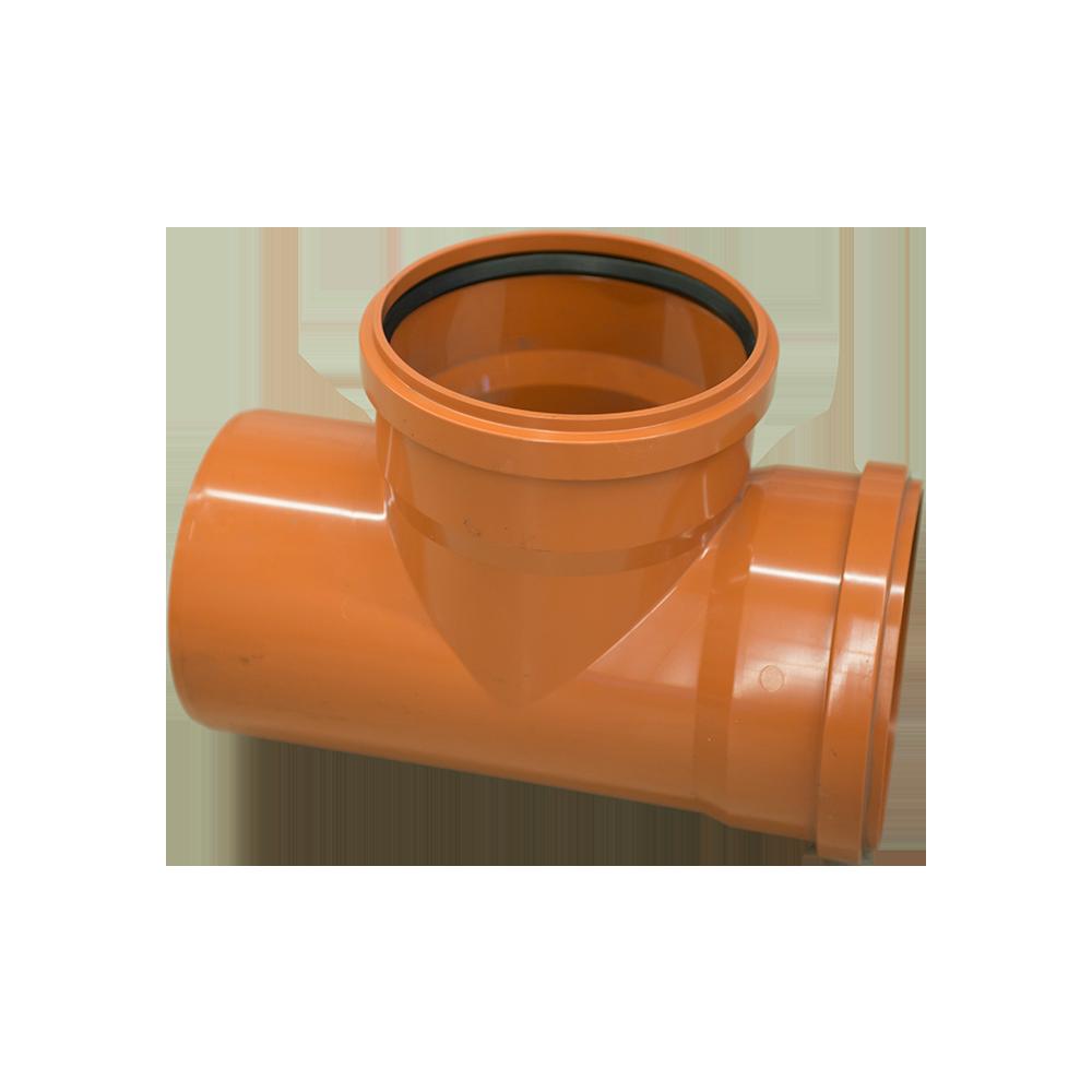 Ramificatie pentru canalizare exterioara Valplast, PVC, 200 x 200 mm, 87 grade