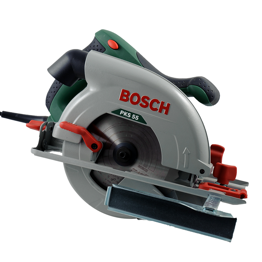 Fierastrau circular electric Bosch Pks 55, inclinare 0-45°, 1200W, 5600 rpm imagine MatHaus.ro