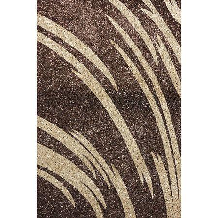 Covor modern Fantasy 12501/89, polipropilena-friese, maro-bej, 80 x 150 cm