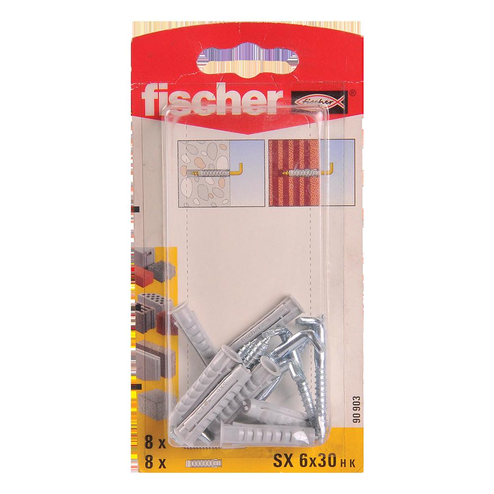 Diblu din nailon cu surub L, Fischer SX, 6 x 30 mm, 4,2 x 40 mm, 8 buc mathaus 2021