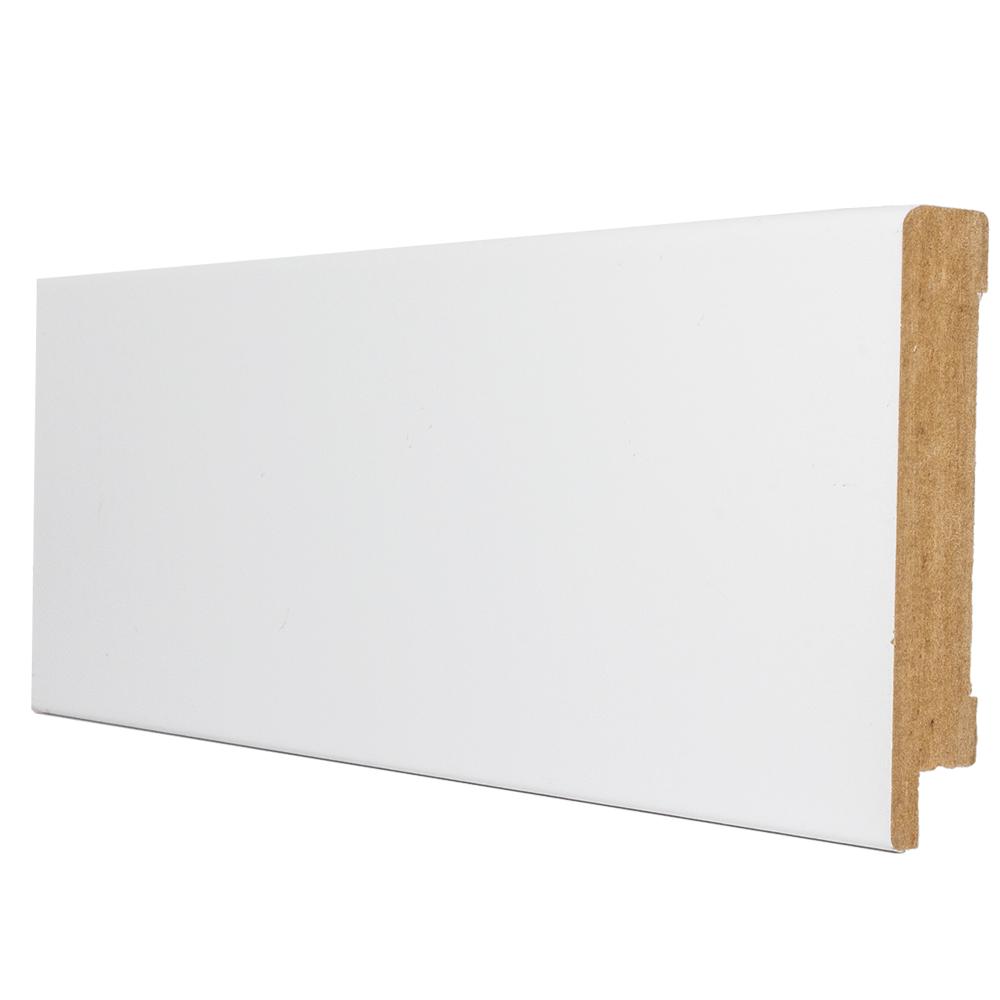 Plinta parchet, MDF, alb, 2800x80x16 mm imagine MatHaus