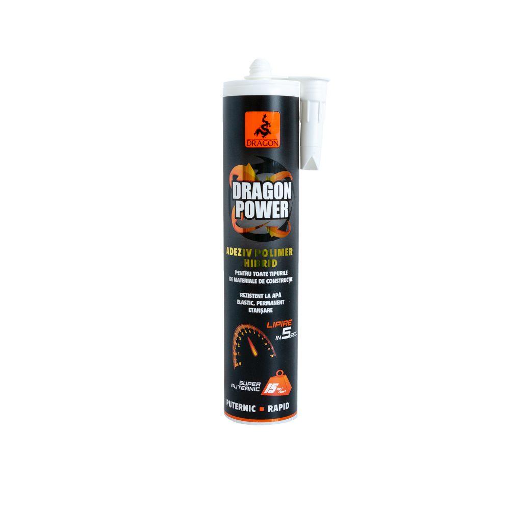 Adeziv pentru materiale de constructii Dragon Rapid Power Hibrid Polimer, 290 ml