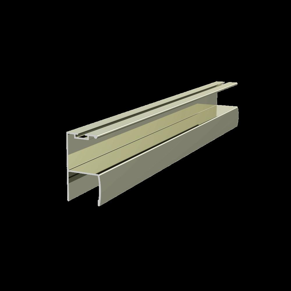 Profil miner Y ER6230 cu perie, pentru PAL de 18 mm, 2,5 m, inox imagine MatHaus.ro