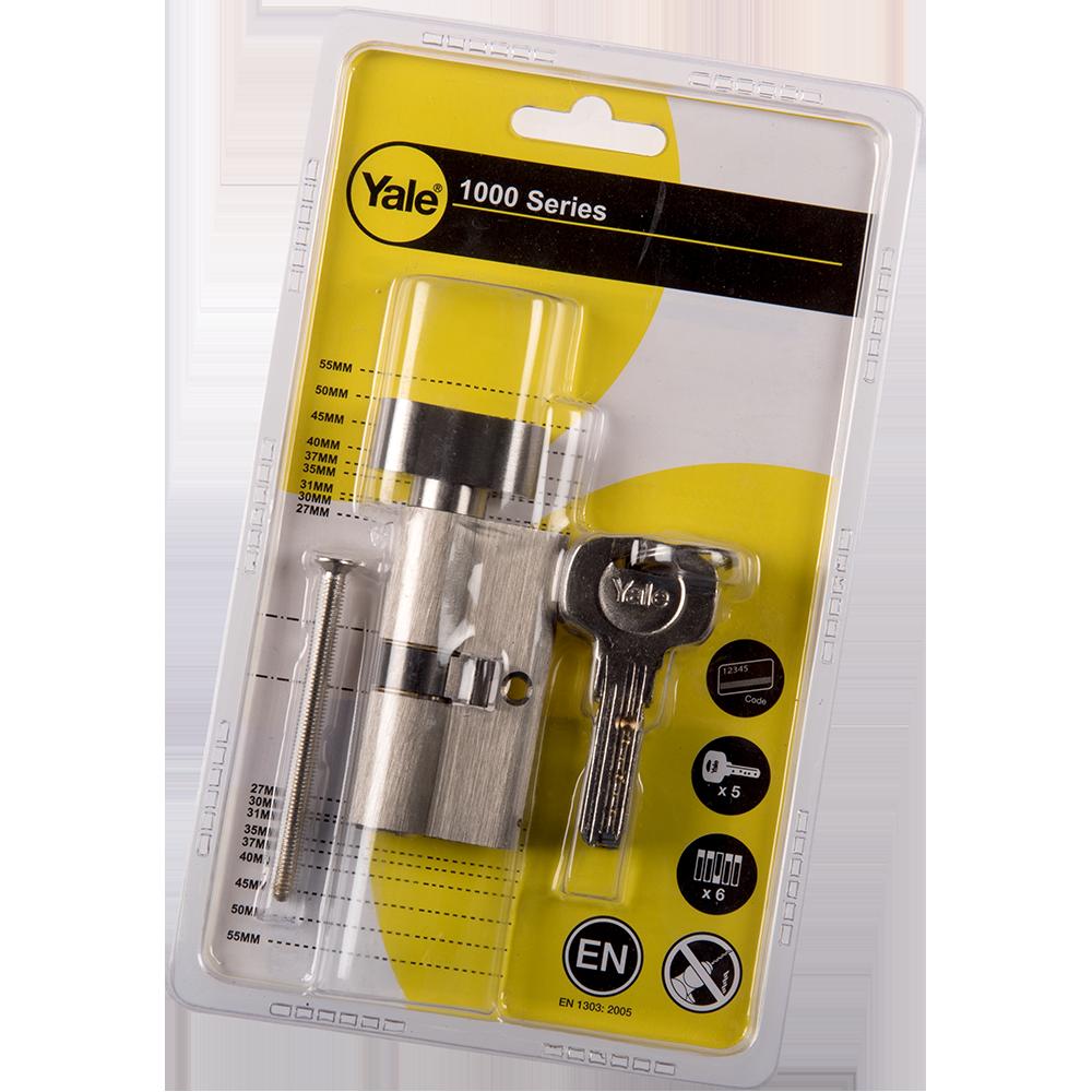 Cilindru cu buton, Yale, alama, 30 x 30 mm, 5 chei amprentate imagine 2021 mathaus
