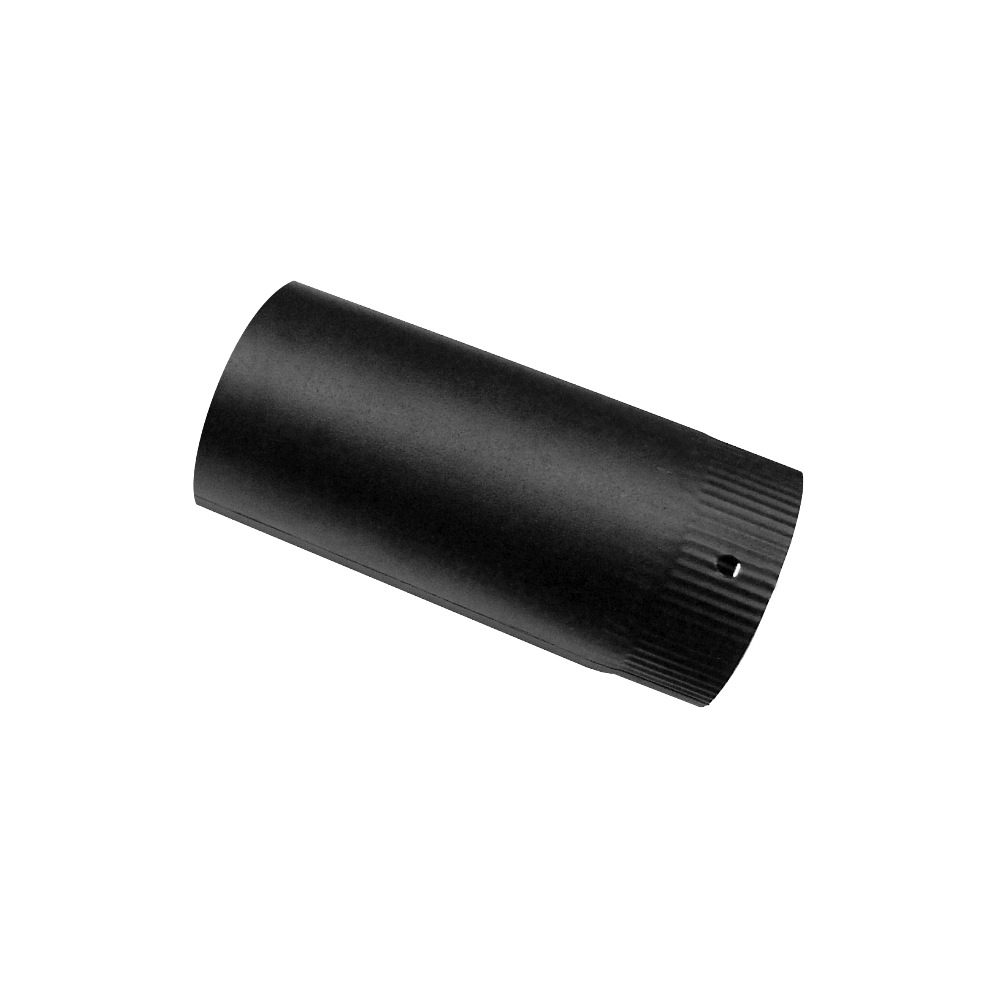 Burlan fum, negru mat, D 120 mm, L 1 m imagine MatHaus.ro