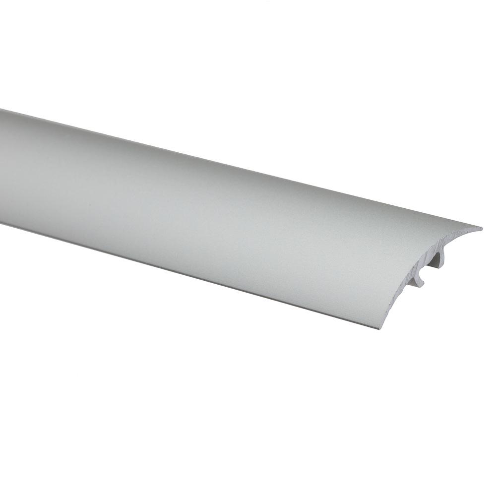 Profil de trecere cu surub mascat S66, fara diferenta de nivel Effector argintiu, 0,93 m imagine MatHaus.ro